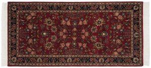 3×6 Kashan Oriental Burgundy Hand-Knotted Rug Runner