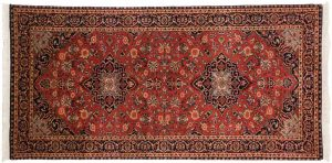 3×6 Kashan Oriental Red Hand-Knotted Rug Runner