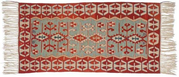 3x6 kilim aqua oriental rug 034600