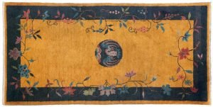 3×6 Semi-Antique Nichols Oriental Gold Hand-Knotted Rug