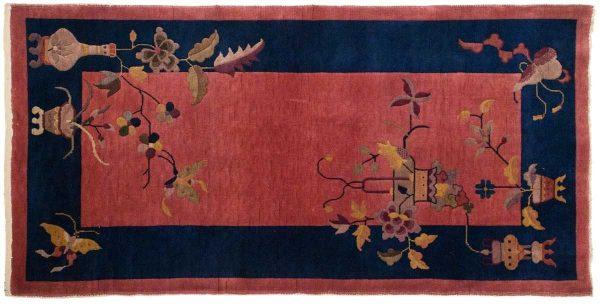 3x6 nichols rose oriental rug 014036 rotated