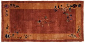 3×6 Antique Nichols Oriental Rust Hand-Knotted Rug
