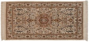 3×6 Tabriz Oriental Ivory Hand-Knotted Rug