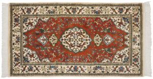 3×6 Tabriz Oriental Red Hand-Knotted Rug