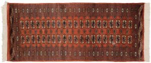 3×7 Vintage Bokhara Oriental Rust Hand-Knotted Rug Runner