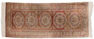 3×7 Caesaria Oriental Rust Hand-Knotted Rug Runner