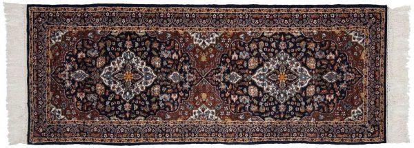 3x7 kashan blue oriental rug runner 025243