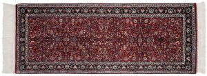 3×7 Kashan Oriental Red Hand-Knotted Rug