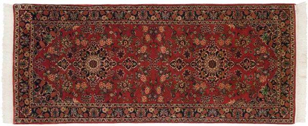 3x7 kashan red oriental rug runner 030529