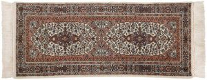 3×7 Khorassan Oriental Ivory Hand-Knotted Rug Runner