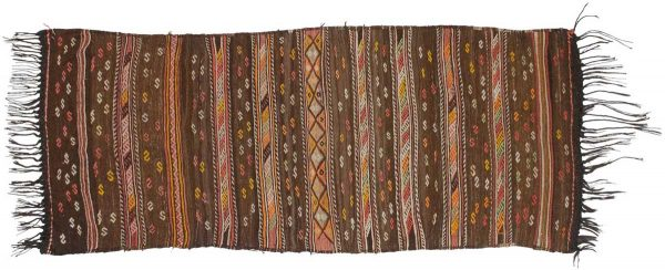 3x7 kilim brown oriental rug runner 014187