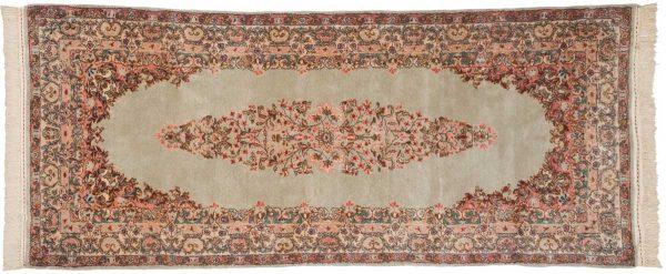 3x7 persian kerman silver oriental rug runner 017308