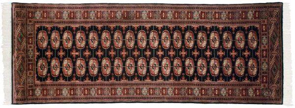 3x8 bokhara black oriental rug runner 021892