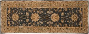 3×8 Chobi Oriental Grey Hand-Knotted Rug Runner