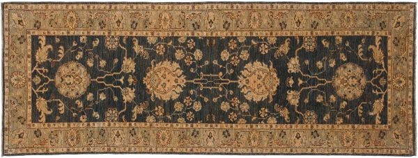 3x8 chobi grey oriental rug runner 043832