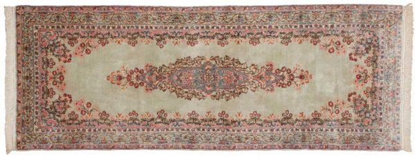 3x8 persian kerman silver oriental rug runner 017326