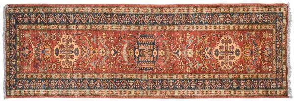 3x9 caucasian rust oriental rug runner 026080