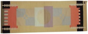 3×9 Vintage Nicholls Oriental Multi Color Kilim (Flatweave) Rug Runner