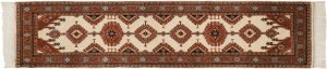 3×9 Vintage Salore Oriental Ivory Hand-Knotted Rug Runner