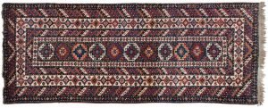 4×10 Semi-Antique Persian Atraf Oriental Multi Color Hand-Knotted Rug Runner