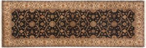 4×12 Mogul Oriental Grey Hand-Knotted Rug Runner