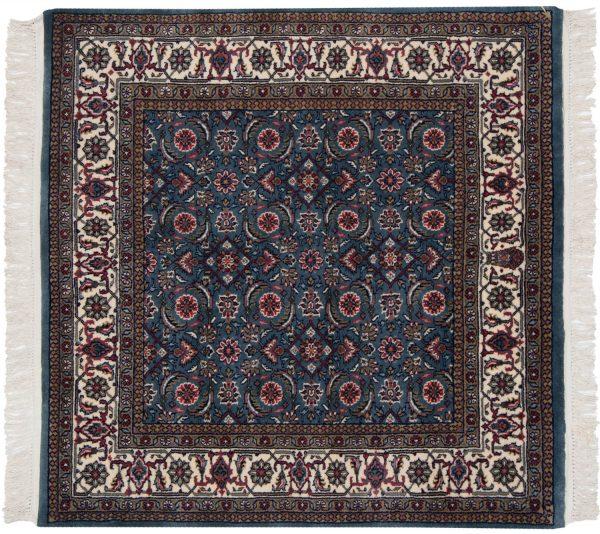 4x4 bijar blue oriental square rug 031422