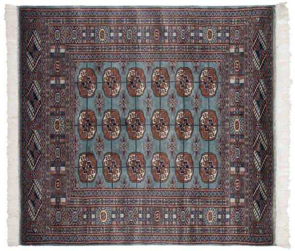 4x4 bokhara blue oriental square rug 021802