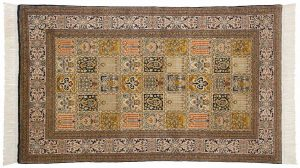 4×5 Kashmir Oriental Multi Color Hand-Knotted Rug