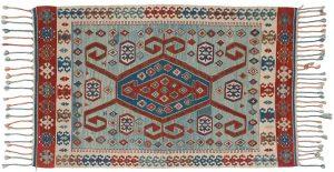 4×5 Kilim Oriental Blue Kilim (Flatweave) Rug