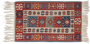 4×5 Kilim Oriental Ivory Kilim (Flatweave) Rug