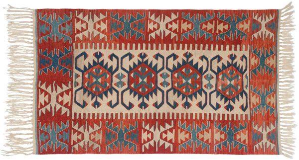 4x5 kilim ivory oriental rug 034592