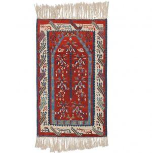 4×5 Kilim Oriental Red Kilim (Flatweave) Rug