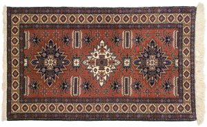 4×5 Vintage Persian Ardebil Oriental Rust Hand-Knotted Rug