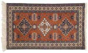 4×5 Persian Ardebil Oriental Rust Hand-Knotted Rug