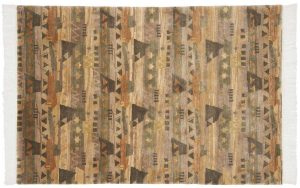 4×6 Abstract Oriental Multi Color Hand-Knotted Rug