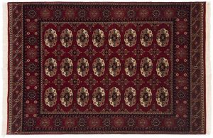 4×6 Bokhara Oriental Red Hand-Knotted Rug