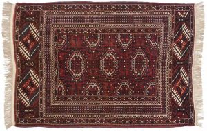 4×6 Bokhara Oriental Rose Hand-Knotted Rug