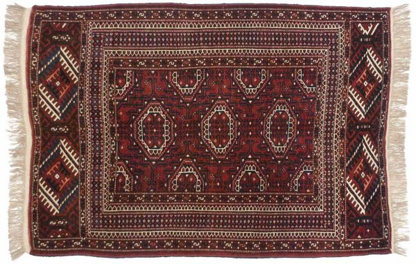 4x6 bokhara rose oriental rug 014027