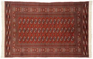 4×6 Semi-Antique Bokhara Oriental Rust Hand-Knotted Rug
