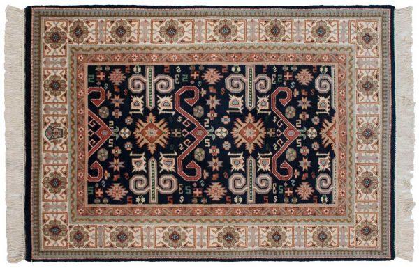 4x6 caucasian blue oriental rug 016725