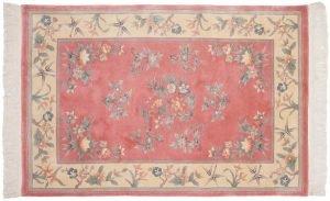 4×6 Vintage Kashan Oriental Rose Hand-Knotted Rug
