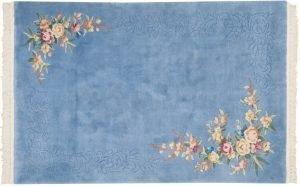 4×6 Semi-Antique Dantsu Oriental Blue Hand-Knotted Rug