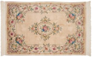 4×6 Semi-Antique Dantsu Oriental Ivory Hand-Knotted Rug