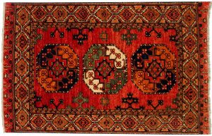 4×6 Ersari Oriental Rust Hand-Knotted Rug