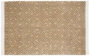 4×6 Vintage Modern Oriental Gold Hand-Knotted Rug
