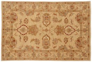 4×6 Caicasian Oriental Gold Hand-Knotted Rug