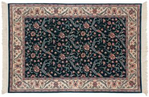 4×6 Floral Oriental Green Hand-Knotted Rug