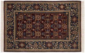4×6 Hamadan Oriental Burgundy Hand-Knotted Rug
