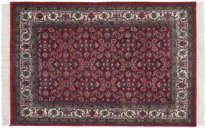 4×6 Vintage Bijar Oriental Red Hand-Knotted Rug
