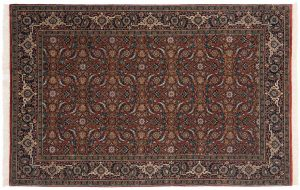 4×6 Herati Oriental Rust Hand-Knotted Rug